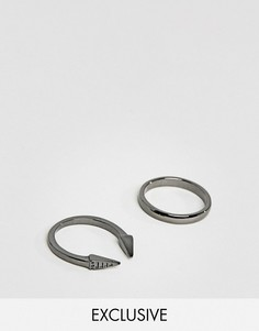 2 кольца DesignB эксклюзивно для ASOS - Серебряный