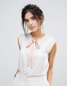 Рубашка с завязкой спереди Vesper - Кремовый