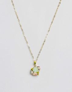 Ожерелье с искусственным хризолитовым опалом Bill Skinner - Золотой