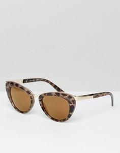Солнцезащитные очки в черепаховой оправе Jeepers Peepers - Коричневый