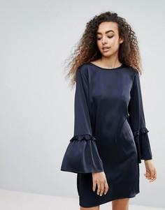 Платье А-силуэта с оборками на рукавах Liquorish - Черный