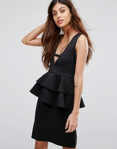 Платье миди с баской Be Jealous - Черный