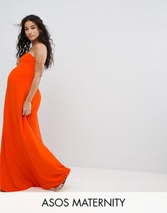 Пляжное платье-бандо макси ASOS Maternity - Красный