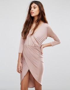 Платье миди с запахом Be Jealous - Розовый