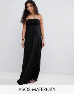 Пляжное платье-бандо макси ASOS Maternity - Черный