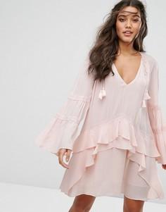 Свободное платье мини Stevie May Leonard - Розовый