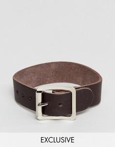 Светло-коричневый кожаный браслет Reclaimed Vintage Inspired - Рыжий