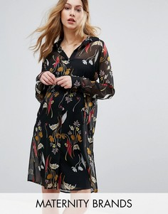 Платье-рубашка с цветочным принтом Mama.licious - Мульти