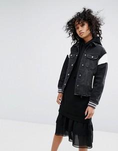 Спортивная куртка в винтажном стиле AllSaints - Черный