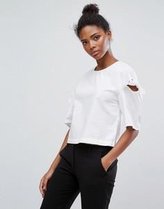 Блузка с бантиками на рукавами Only - Белый