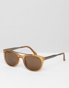 Круглые солнцезащитные очки с планкой сверху АJ Morgan - Желтый