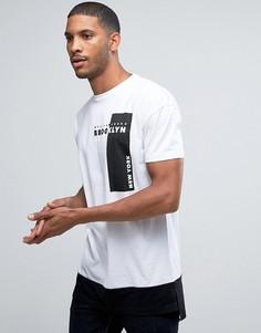 Белая футболка с принтом Brooklyn New Look - Белый