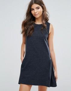 Платье с оборками по краю Vila - Черный
