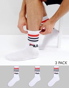 Белые спортивные носки Fila Vintage - Белый
