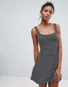 Трапециевидное платье в полоску Brave Soul Gwen - Черный