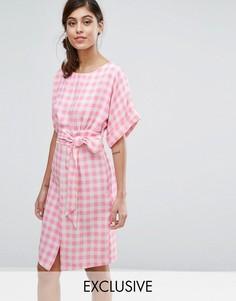 Платье с рукавами‑кимоно и поясом Closet London - Мульти