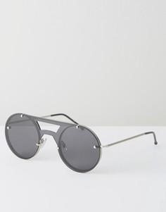 Черные солнцезащитные очки-авиаторы Spitfire - Черный