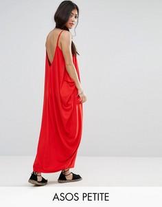 Платье макси с драпировкой ASOS PETITE - Красный
