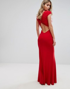 Платье макси с отделкой на спине Club L - Красный