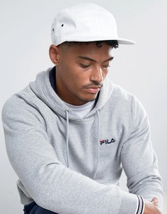 Белая 5-панельная кепка Fila Vintage Rizzo - Белый