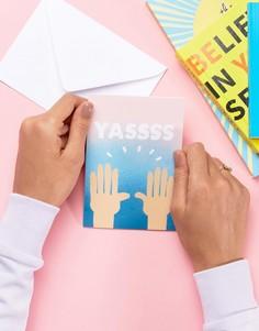 Поздравительная открытка с надписью YAS Jolly Awesome - Мульти
