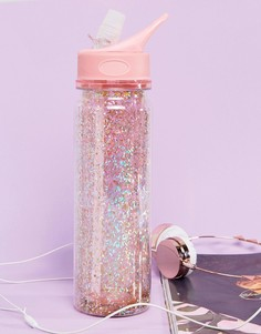 Розовая блестящая бутылка для воды BAN.DO Stardust - Мульти