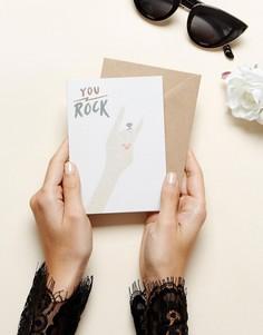 Поздравительная открытка в честь обручения Ohh Deer Rock You - Мульти