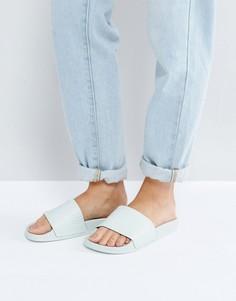 Зеленые сандалии без застежек adidas Originals - Зеленый