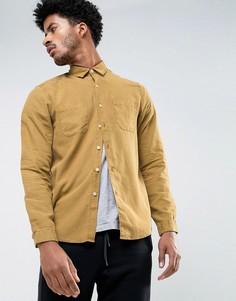 Выбеленная рубашка классического кроя горчичного цвета ASOS - Желтый