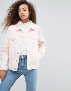 Джинсовая куртка Weekday Single Girlfriend - Розовый
