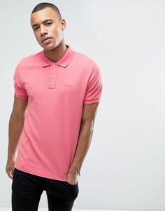 Приталенная футболка-поло из пике Esprit - Розовый