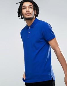 Приталенная футболка-поло из пике Esprit - Синий