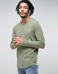 Удлиненные лонгсливы Esprit - Зеленый