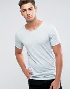 Меланжевая футболка Jack & Jones Premium - Серый