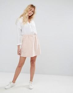 Трикотажная юбка с тиснеными надписями J.D.Y - Розовый JDY