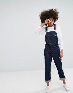 Комбинезон со штанинами прямого кроя и вышивкой Waven - Синий