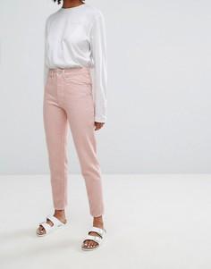Джинсы пастельного цвета в винтажном стиле Waven Elsa - Розовый
