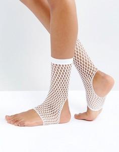 Белые сетчатые носки ASOS - Белый