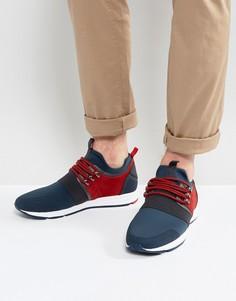 Синие замшевые кроссовки с эластичной отделкой HUGO by Hugo Boss - Синий