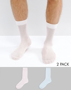 2 пары носков синего и розового цвета ASOS - Мульти