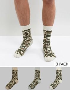 3 пары носков с камуфляжным принтом ASOS - Мульти