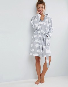 Трикотажный халат с принтом облаков ASOS - Мульти