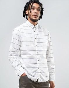 Хлопковая рубашка в полоску Esprit - Белый