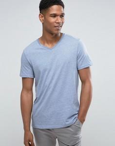 Голубая футболка с V-образным вырезом Burton Menswear - Синий
