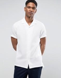 Зауженная льняная рубашка Burton Menswear - Белый