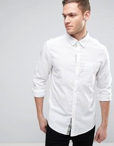 Рубашка из хлопка и льна Esprit - Белый
