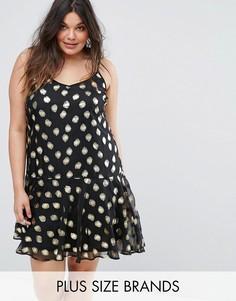 Платье в блестящий горошек Alice & You - Мульти