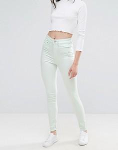 Облегающие джинсы с завышенной талией Waven Anika - Зеленый