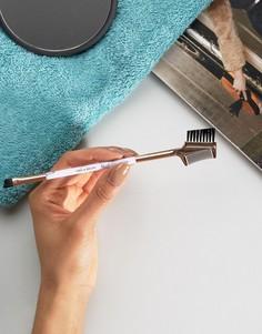 Кисть-расческа для ресниц и бровей с мраморной ручкой Skinnydip - Бесцветный