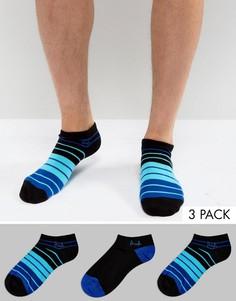 Набор из 3 пар носков в полоску Pringle - Черный